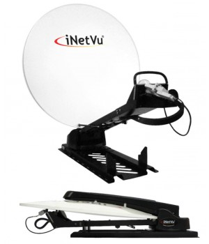 satspeedPRO iNetVu 150cm auto deploy antenna KU-Band with carbon fibre antenna